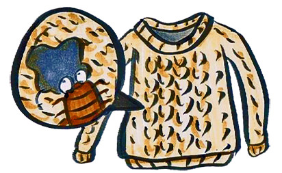 セーター 虫食い 修理